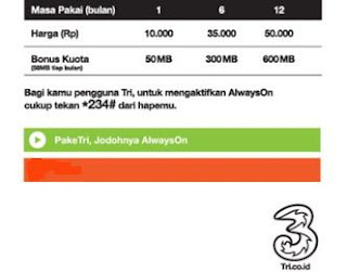 Paket Internet Three(3)