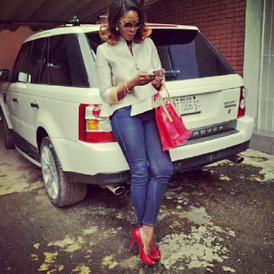 Nollywood Actress Stephanie Okereke Flaunts Her New Cars