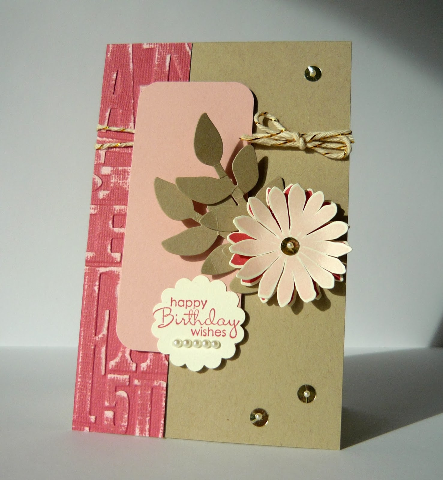 Perry Papercrafts Garden Birthday Wishes