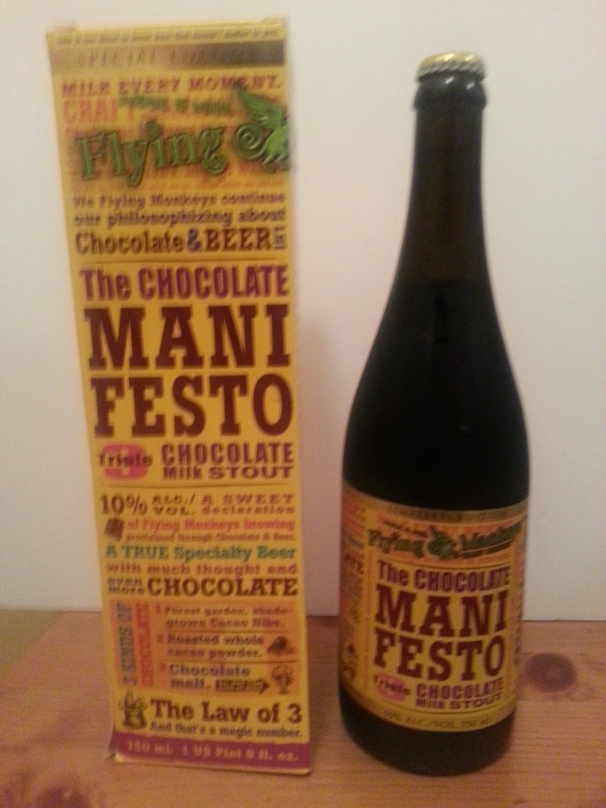 The Pint Jockey Online: Beer # 194 The Chocolate Manifesto Flying ...