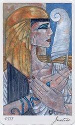 Mary El tarot Marie White Egypt Egyptian Tarot ไพ่ทาโร่ อียิปต์ ไพ่อียิปต์ ไพ่ทาโรต์ ไพ่ยิปซี ทำนายไพ่ ดูดวงฟรี Justice ไพ่จัสติซ ตาชั่ง