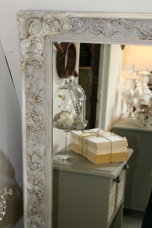 Reloved Rubbish Paris Gray And Old White Mirror