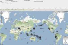 Mapa de terremotos en Google Maps