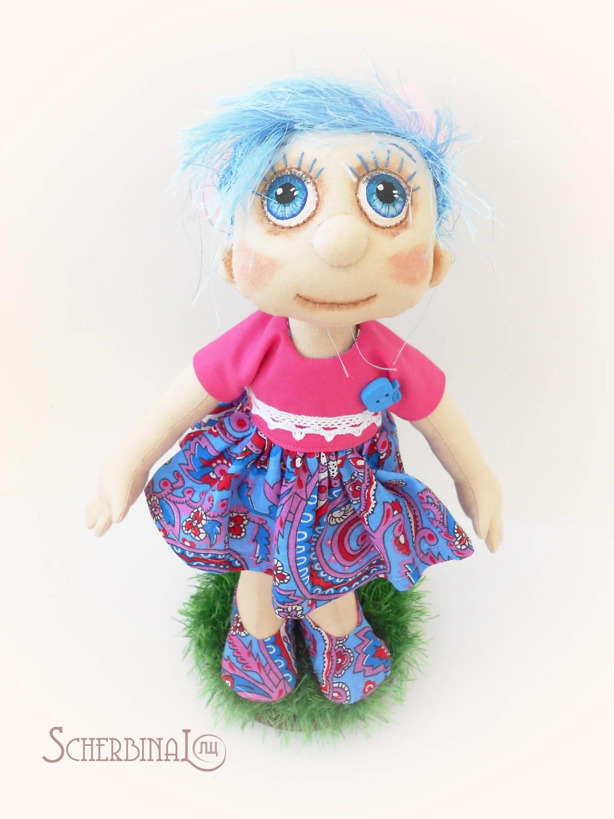 текстильная игровая кукла-карамелька Людмилы Щербина