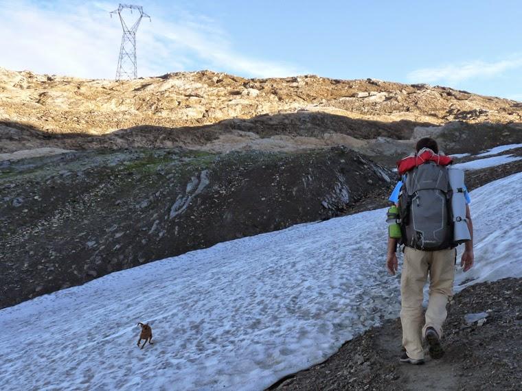 ラ・クロワ・デュ・ボンノム峠からフール峠  残雪