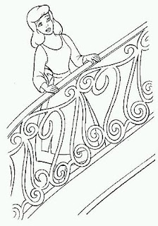 Dibujos de Cenicienta para Pintar, parte 3