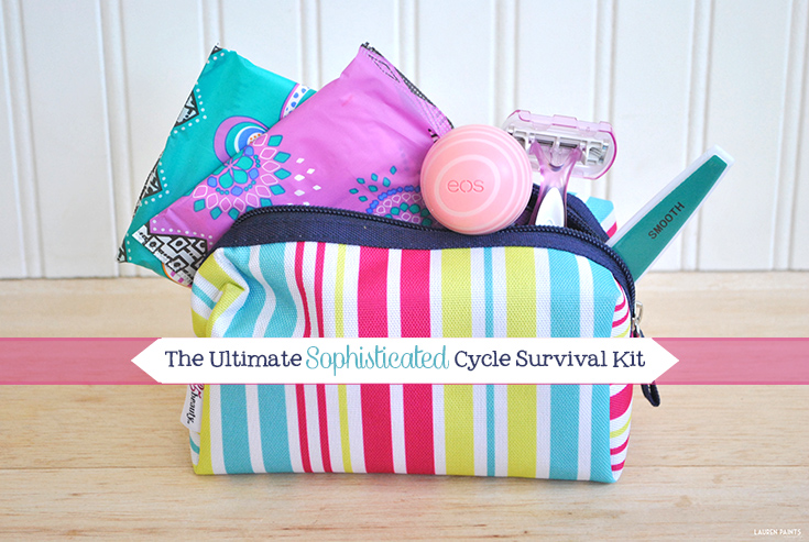 "This survival kit is the perfect way to stay sophisticated and classy while dealing with ""that time of the month""."