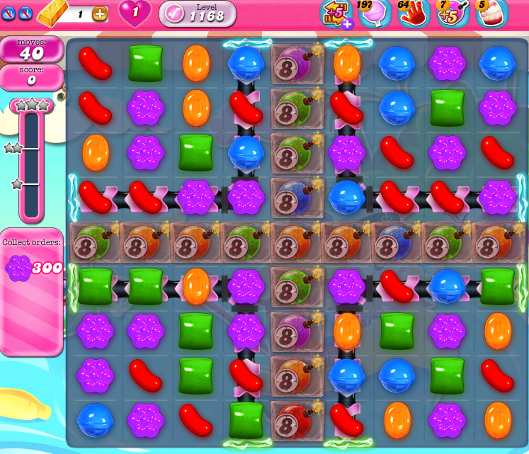 Candy Crush Saga 1168