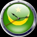 علم مروتانيا  Mauritania flag clock