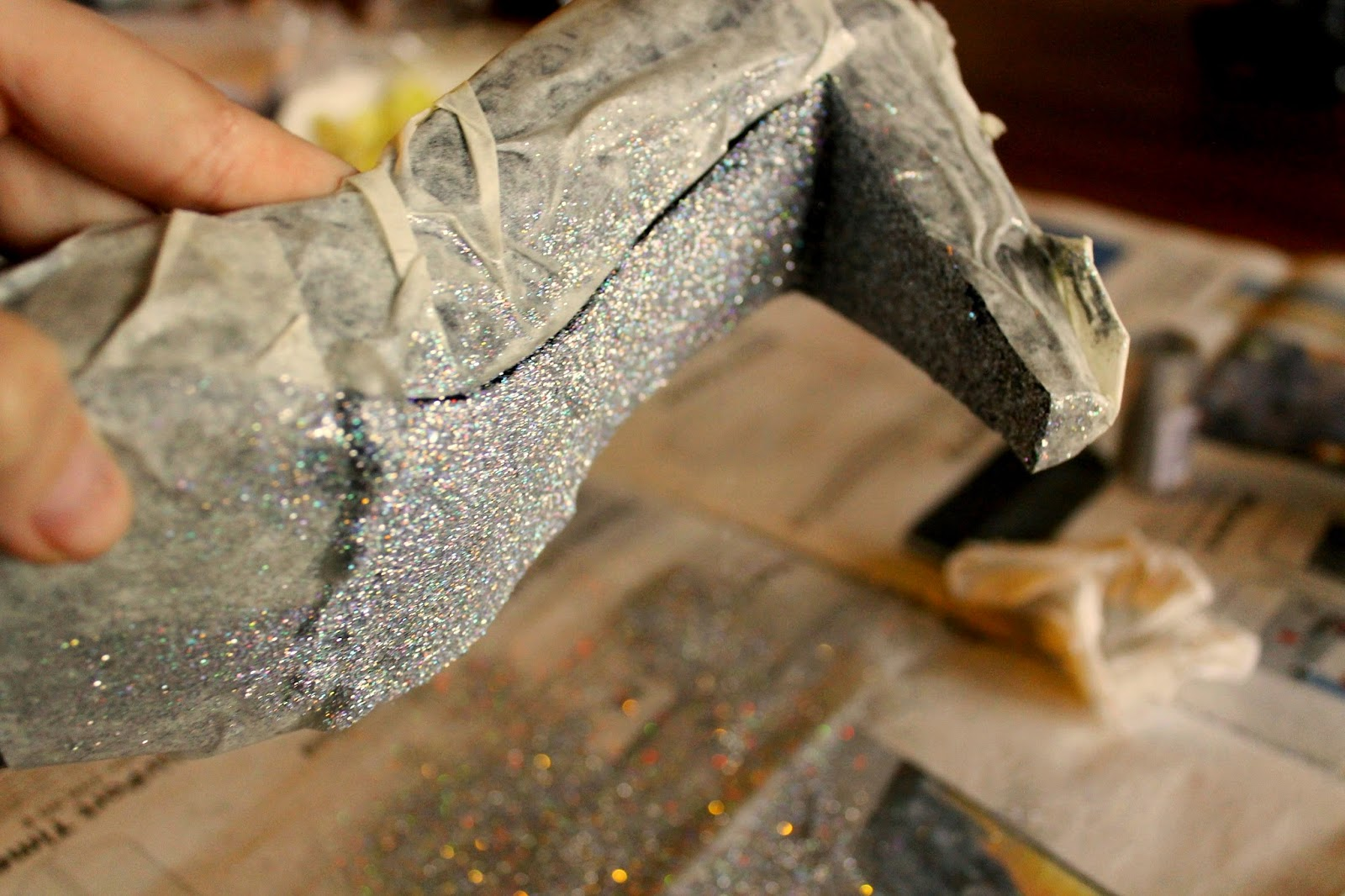 sparkling glitter high heels step 3. To see full instructions visit blog