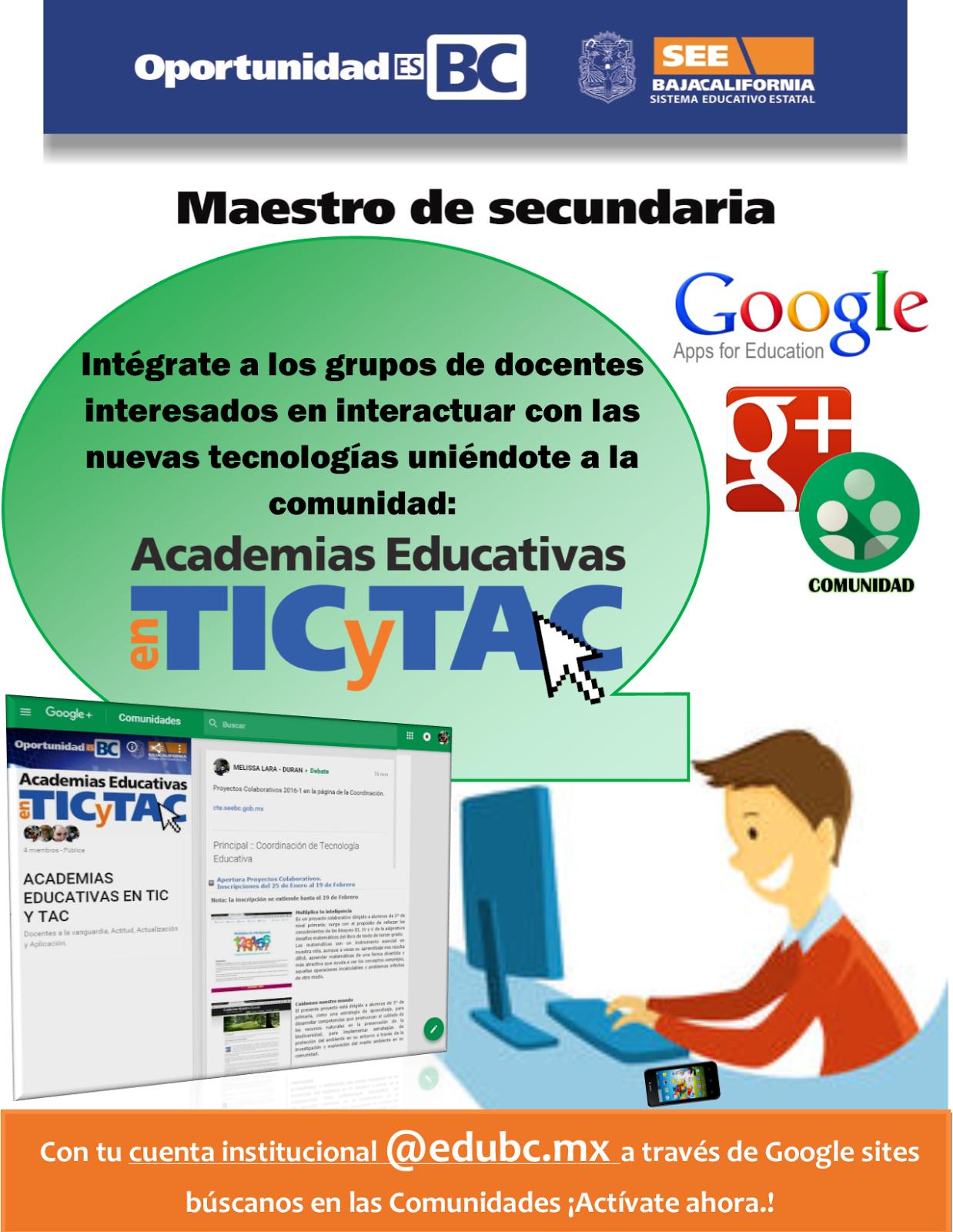 COMUNIDAD GOOGLE TECNOLOGÍA EDUCATIVA