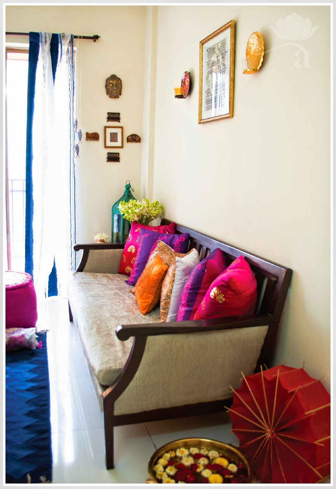 The east coast desi the aaraa by avantika studio tour for Living room ideas indian