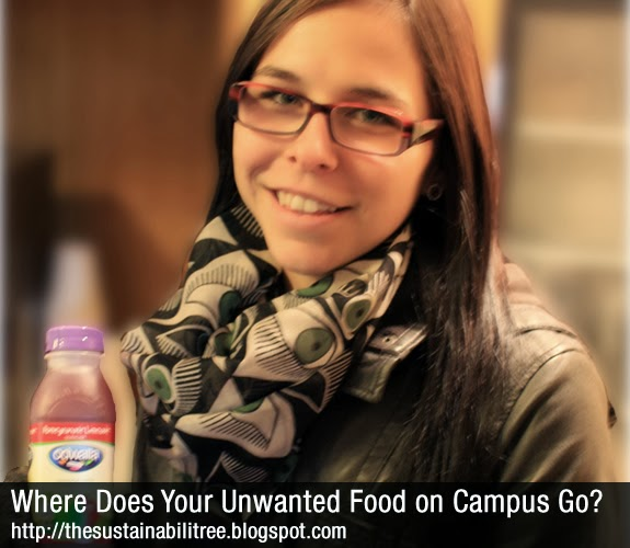 A uOttawa student holds a bottle of juice that will be donated to those in need