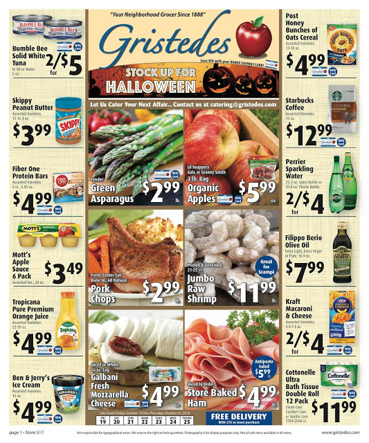 CHECK OUT ROOSEVELT ISLAND GRISTEDES Products, SALES & SPECIALS For October 19 - October 25