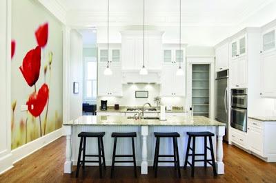 cocina decorada con fotomural