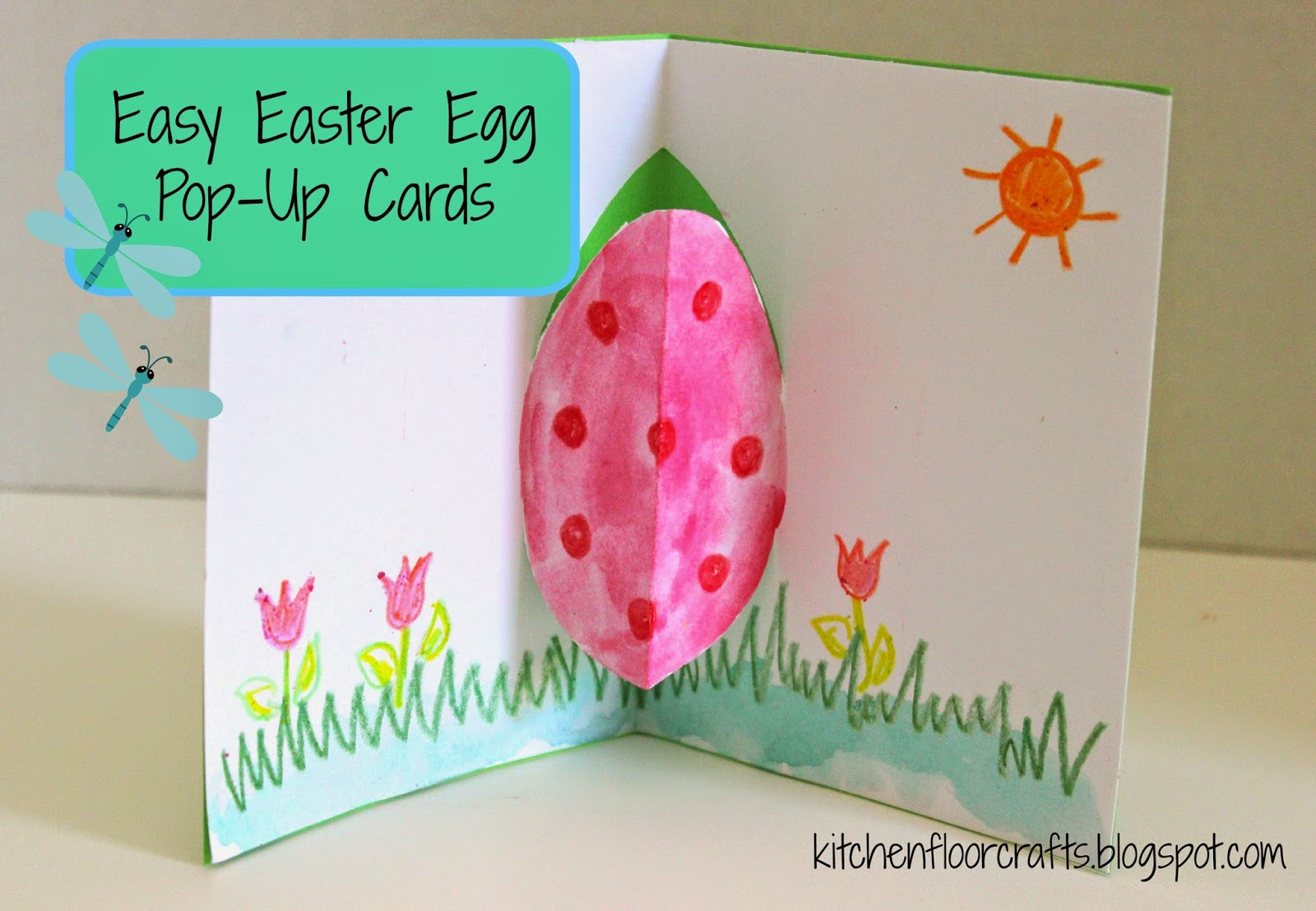 Kitchen Floor Crafts Easy Easter Egg Pop Up Card