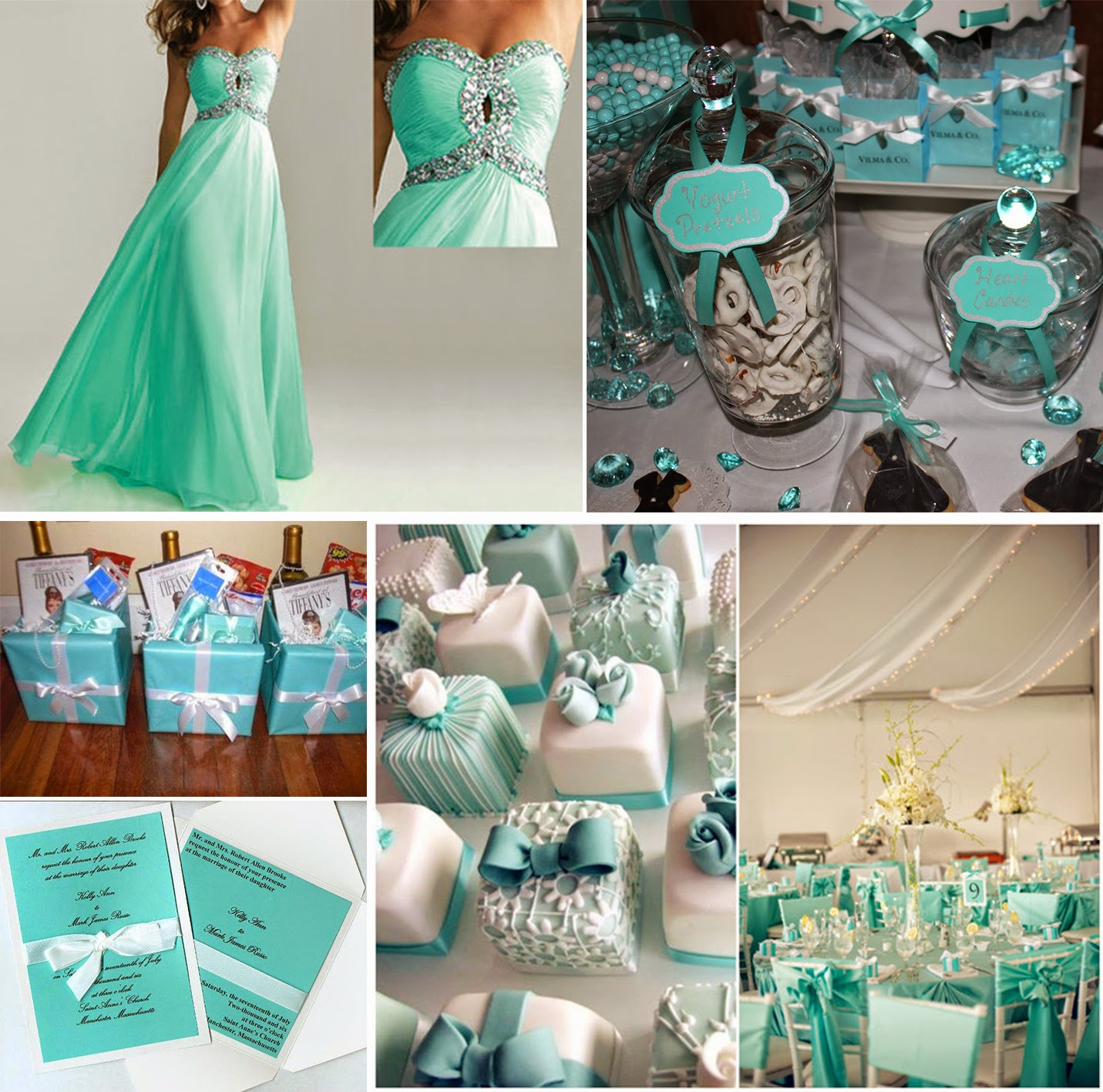 Blue Theme Wedding Gallery Wedding Decoration Ideas Prom Dress The Tiffany  Blue Theme Wedding Ideas Bridesmaid