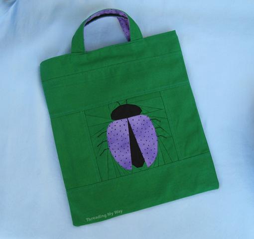 Ladybird Tote Bag ~ Threading My Way