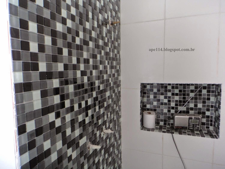 Apê 114 Banheiro Social  Quase pront -> Acabamento Do Nicho Do Banheiro