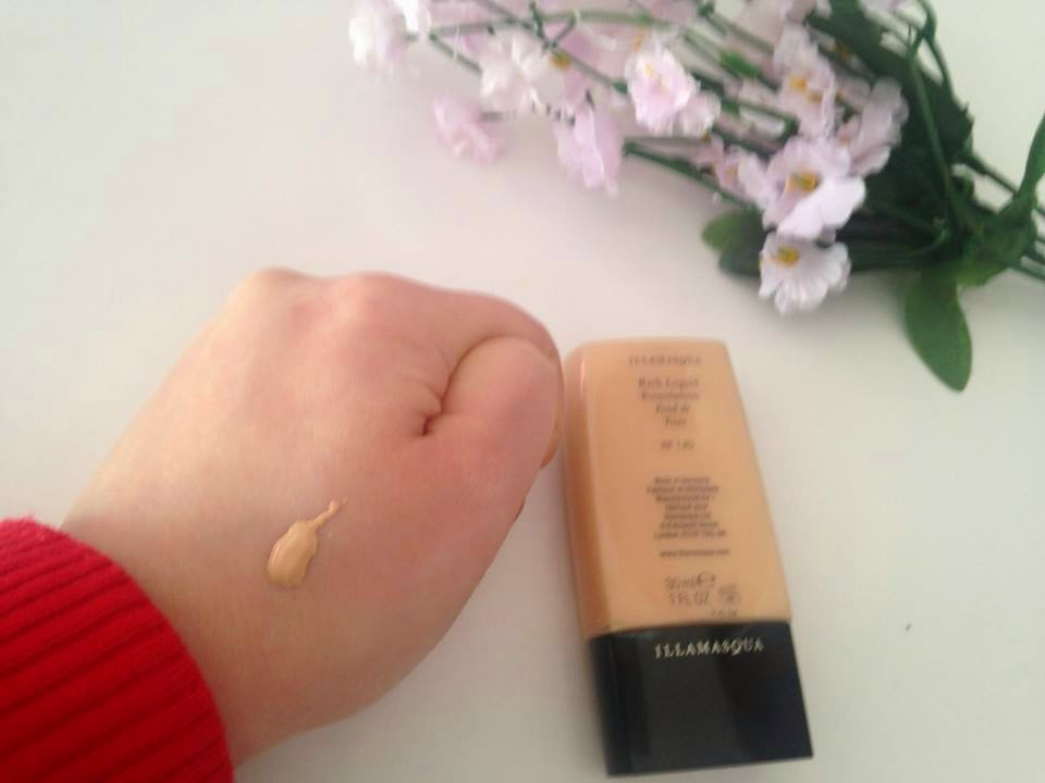 Illamasqua rich liquid foundation swatch