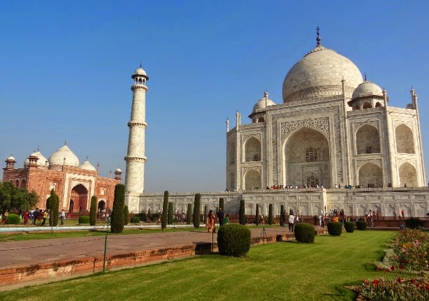 taj mahal vue generale mosquee mausolee mumtaz visite inde agra