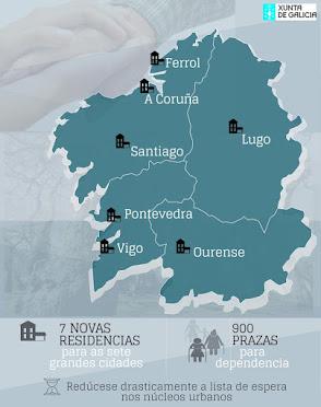 Sete novas residencias públicas suporán 900 novas prazas de atención á dependencia nas sete cidades