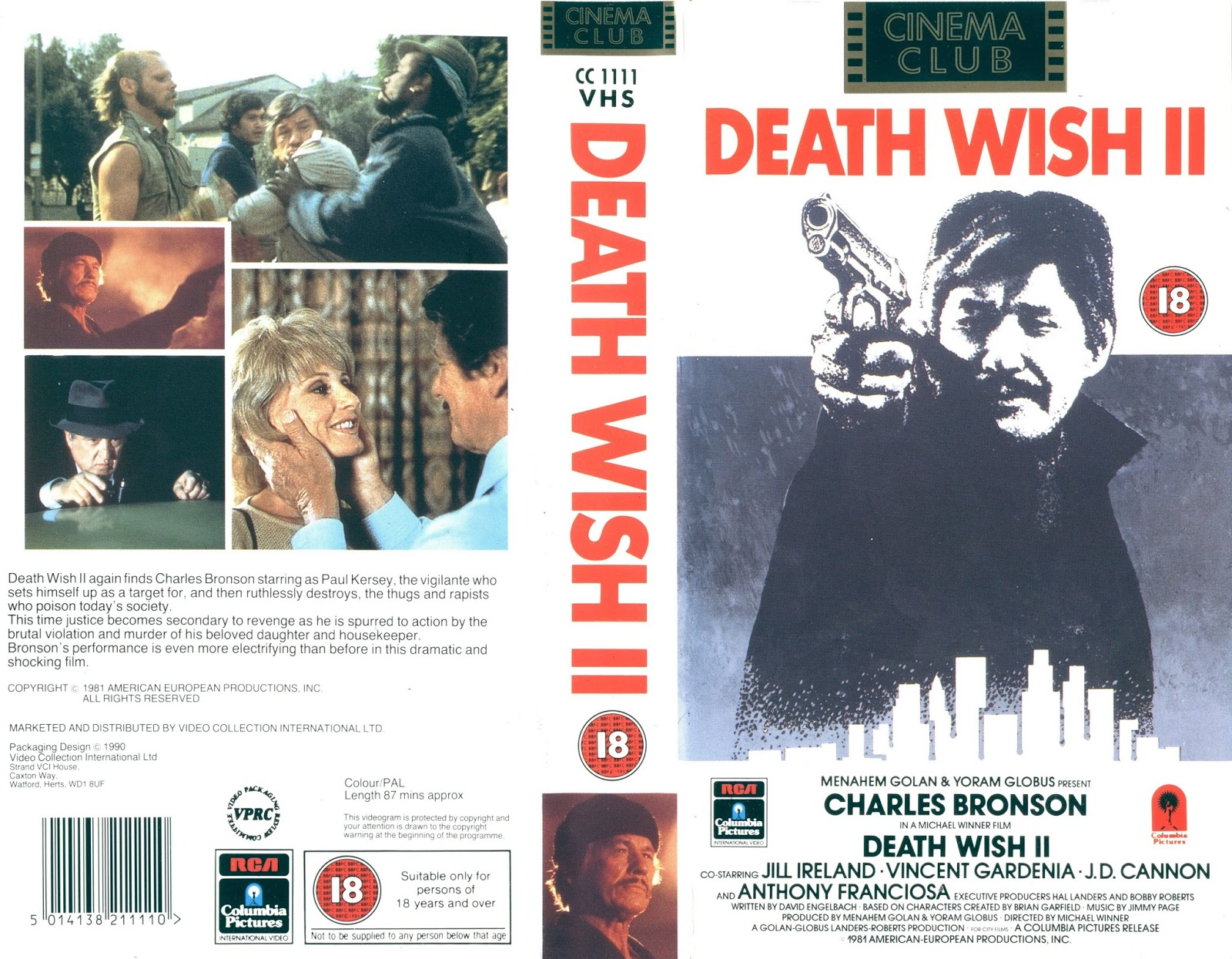 dvd and vhs covers death wish 2 vhs video cover