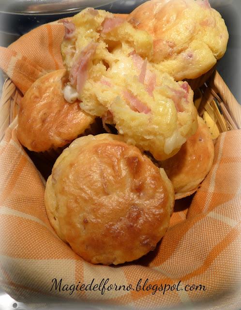 muffins salati al prosciutto cotto e provola