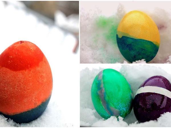 Ostereier färben mit Pastenfarbe