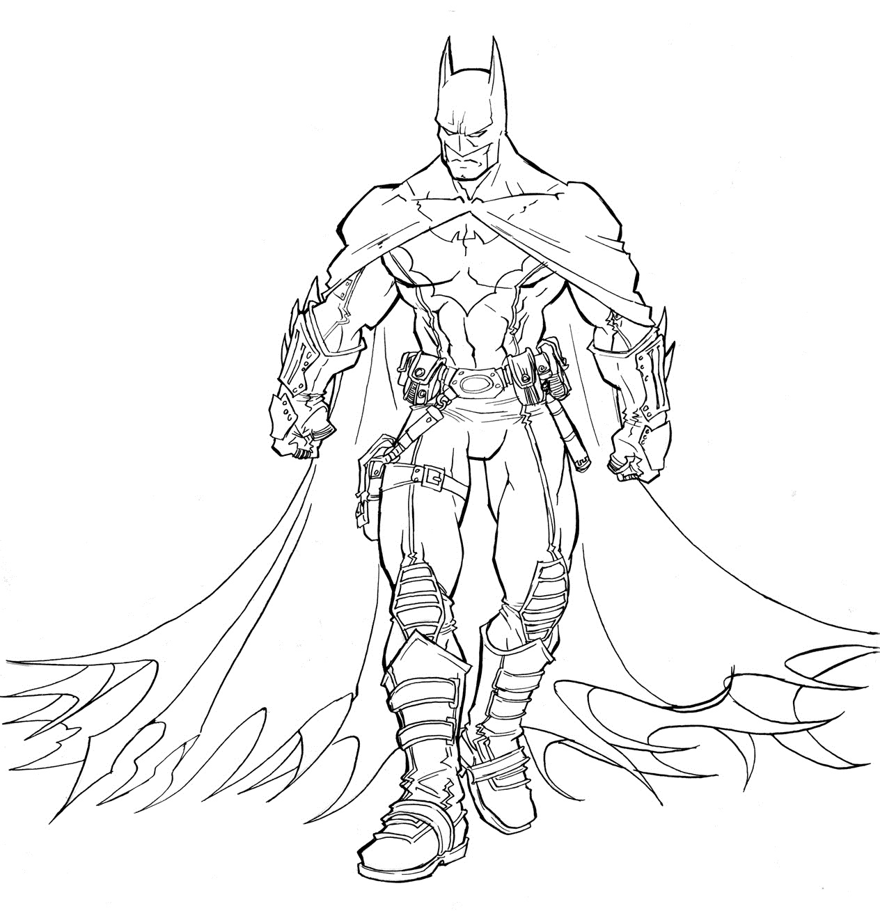 batmans coloring pages - photo#11