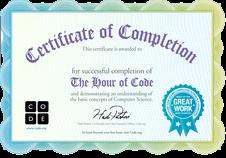 """Certificados """"Hora del código"""""""