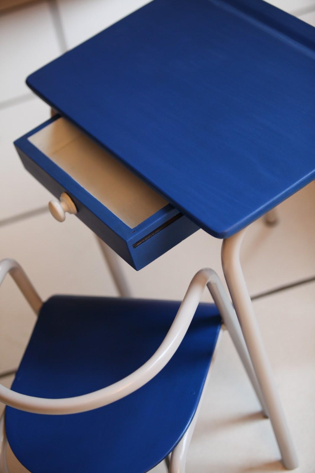 c 39 est la re cr ation vintage scolaire vintage coup de c ur mon premier bureau. Black Bedroom Furniture Sets. Home Design Ideas
