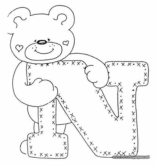 Letras con osos - Imagui