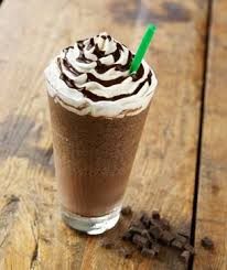 Mocha Frappiccino!!!  My favorite coffee ever!  Ya I know it isn't the best for me, but.... :)