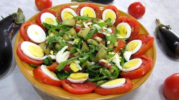 Aubergines Crues En Salade