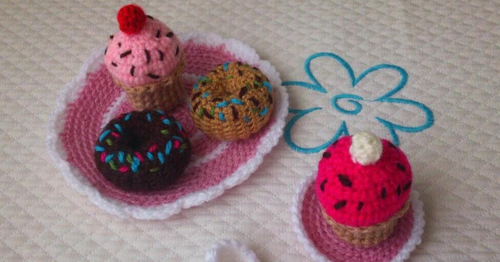 Mini Donuts Amigurumi : Amigurumis y otras cosillas: Merendamos?