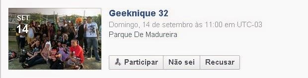 Evento no Facebook
