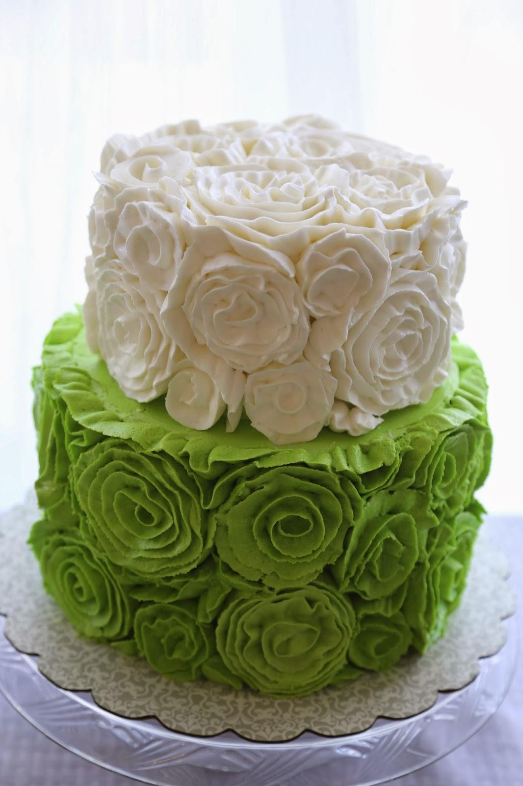 Sara Elizabeth - Custom Cakes & Gourmet Sweets: Fancy Buttercream Rosette Cake Tutorial