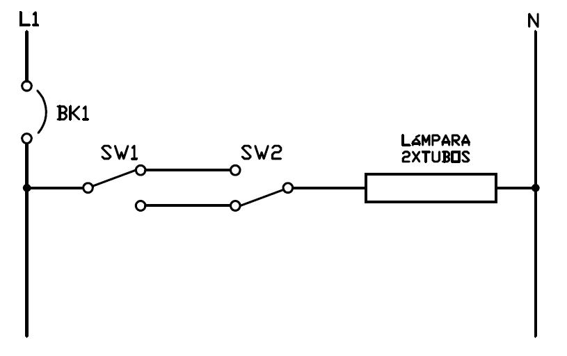 Conexion de lampara fluorescente
