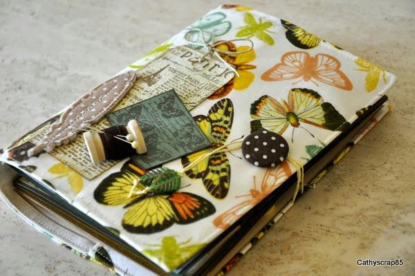 Couv'textile envolée poétique par Cathyscrap85