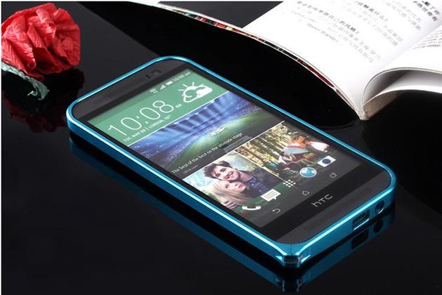 Bumper M8 จาก Hanshen ของแท้ แถมฟิล์มกันรอยแท้ฟรี รหัสสินค้า 108008 สีฟ้า