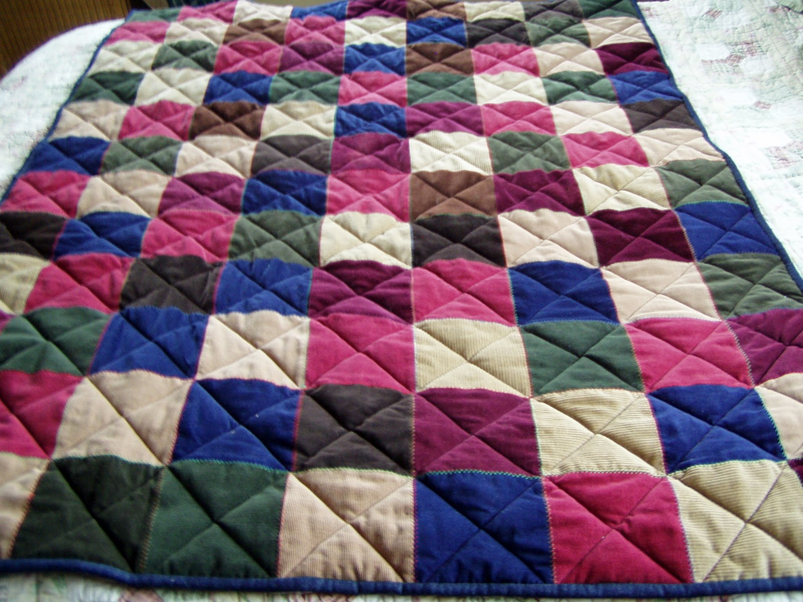 A Tale of Two Quilters: Corduroy Squares Quilt : corduroy quilts - Adamdwight.com