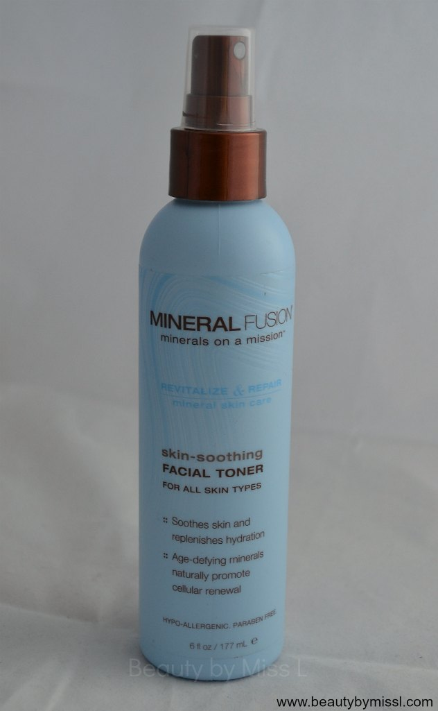 Mineral Fusion Skin-Soothing Facial Toner for all skin types review