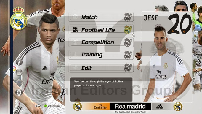 PES 2014 Real Madrid C.F Graphic Mode By SRT