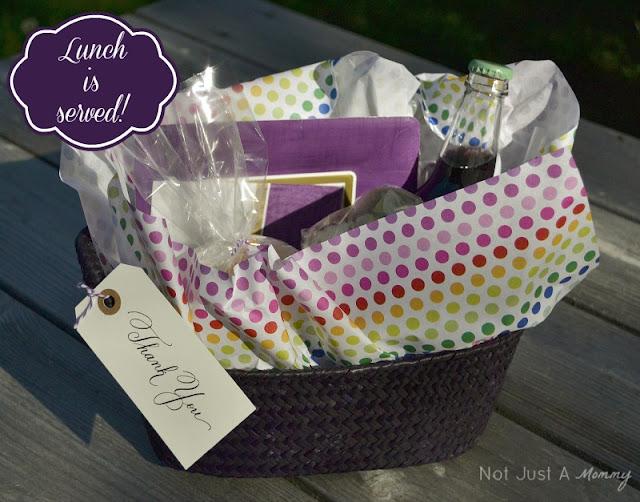 Teacher Appreciation picnic lunch basket