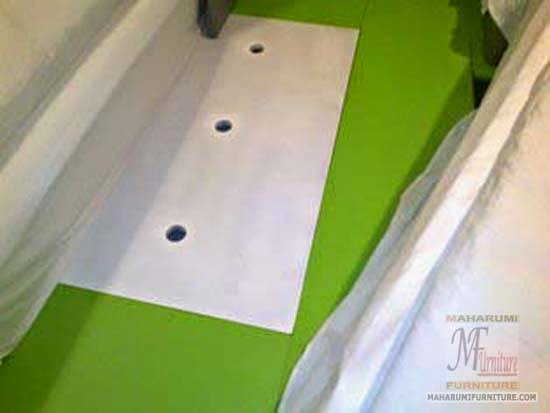 Projects Hotel Pop Tebet Jakarta: Bed Frame/Tempat Tidur Finishing Cat Duco View Interior Kamar Kamar Hotel