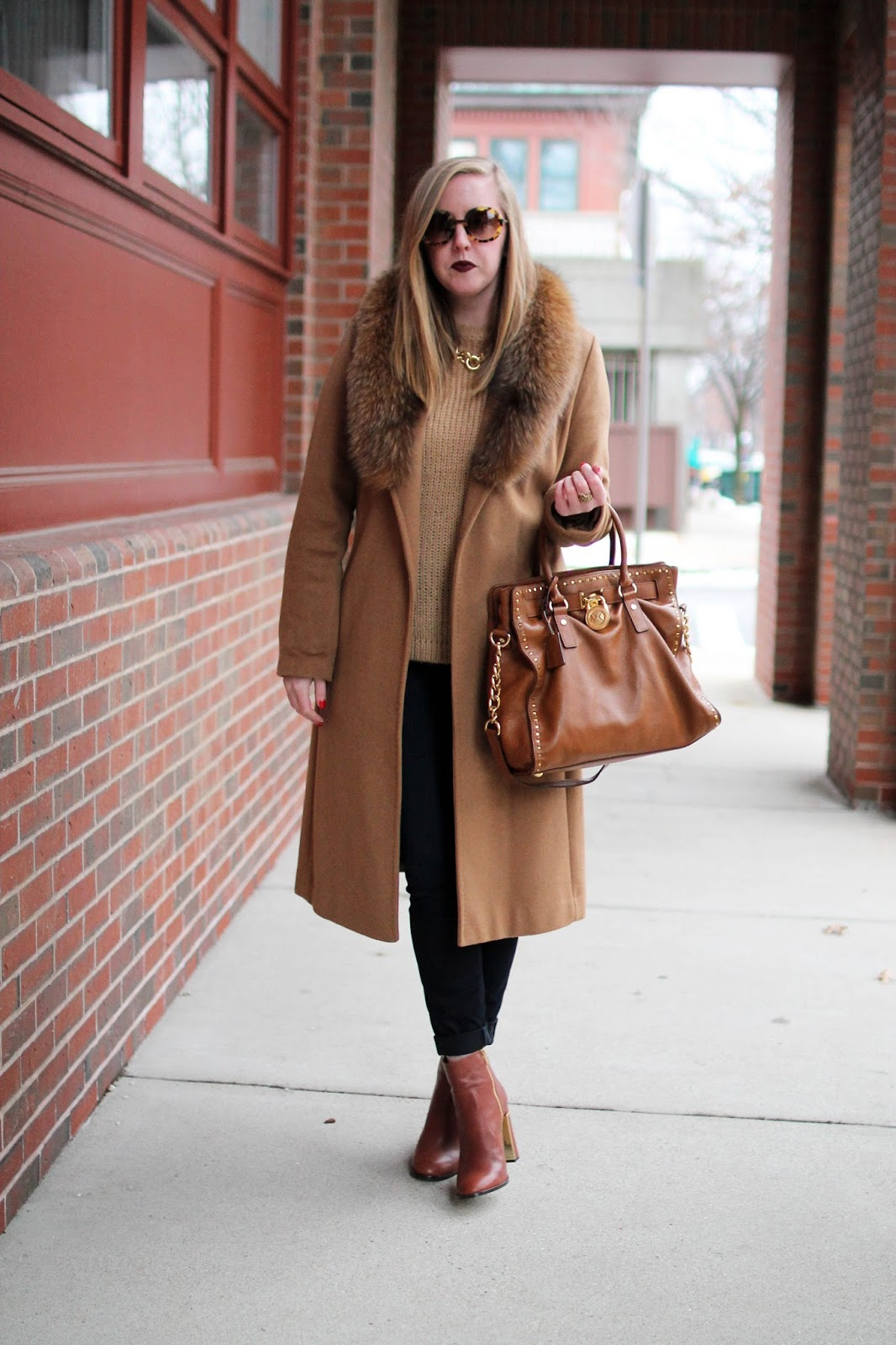 winter coat, camel winter coat, camel on camel outfit, boston style blogger, boston fashion blogger