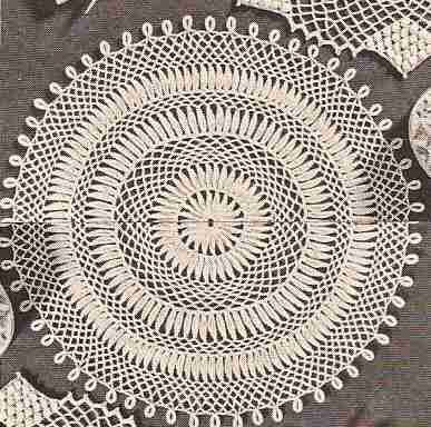"Centro de mesa ""Dalia"" a Crochet"