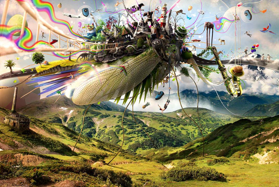Nature Photo Manipulation: Fleeing Creativity