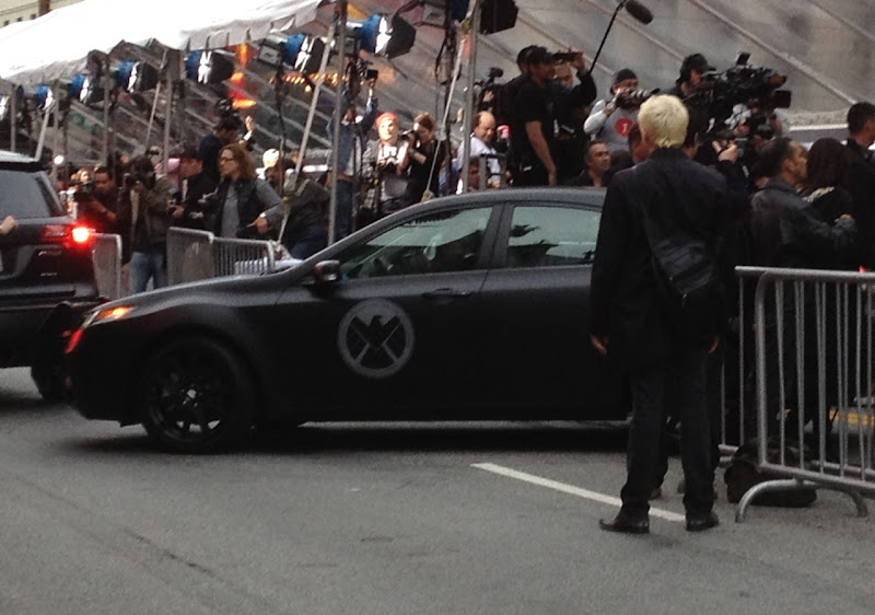 Shield car Avengers movie premiere